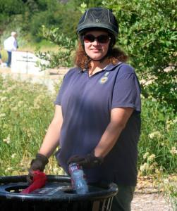 Barbara demostrates recycling